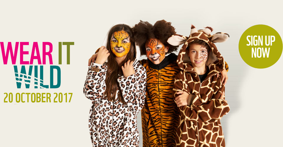 Wear it wild for the day. Love wildlife forever. Sign up now.